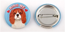 """King Me"" Cavalier King Charles Buttons"