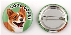 """Cool Corgi"" Buttons"