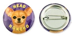 """Head Honcho"" Chihuahua Buttons"