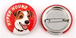 """""""Hyper Hound"""" Jack Russell Terrier Buttons"""