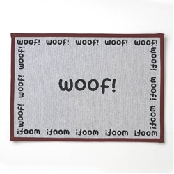 "WOOF Tapestry Placemat, Natural/Black 13""x19"""