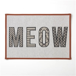 "MEOW Tapestry Placemat, Natural Multi 13""x19"""