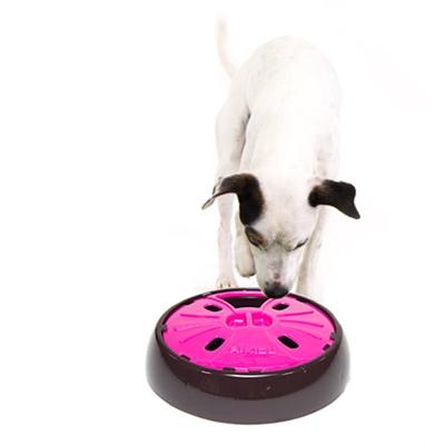 AiKiou Junior Slow Down Bowl for Dogs - Fushia