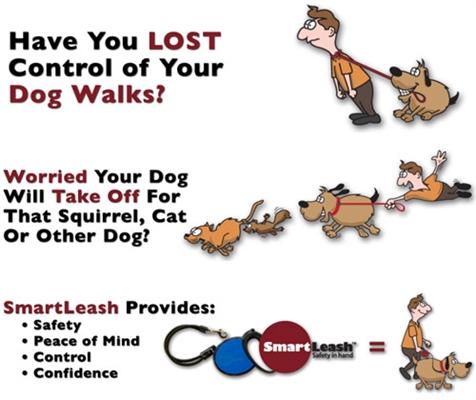 Large SmartLeash™ Auto-Lock Retractable Dog Leash