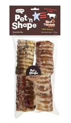 Small Beef Trachea Chews (4-Pack)