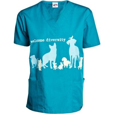 Welcome Diversity Scrub Shirt