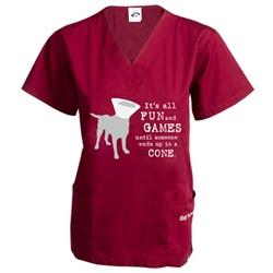 Fun and Games Scrub Shirt