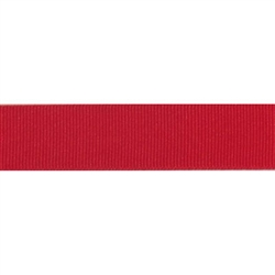 """Red Grosgrain - 1.25"""" Collars and Leashes"""