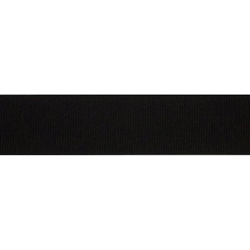 "Black Grosgrain - 1.25"" Collars and Leashes"
