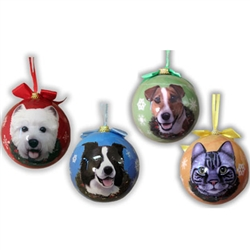 Dog and Cat Ball Christmas Ornaments
