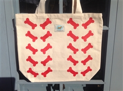 Shopping Tote - Double Red Bones