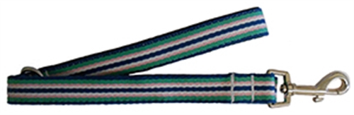 Henley Blue & Green 9-Stripe Collars and Leashes by Huxley & Kent