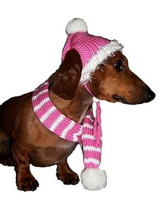 Bubblegum Pink Hat/Scarf