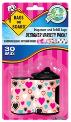 Bags on Board Dispenser Desinger Print, 30 Refill Bags