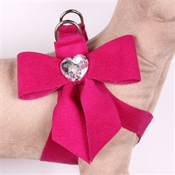Wine & Roses Tail Bow Heart Step-In Harnesses