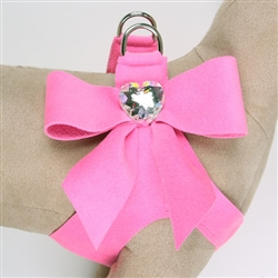 Perfect Pink Tail Bow Heart Step-In Harnesses