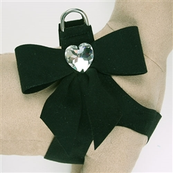 Black Tail Bow Heart Step-In Harnesses