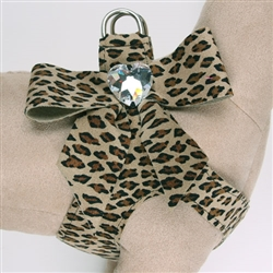 Cheetah Tail Bow Heart Step-In Harnesses
