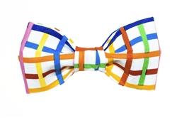 Bow Tie - Rainbow Plaid