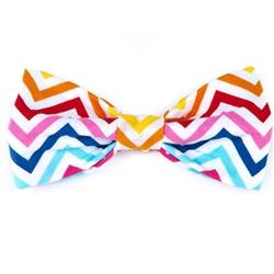 Bow Tie - Rainbow Chevron