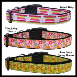 Flower Collection Nylon Dog Collars & Leads
