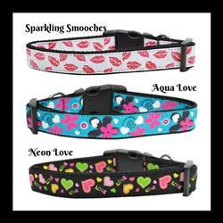 Valentine Collection Nylon Dog Collars & Leads
