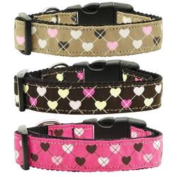 Argyle Hearts Nylon Collars & Leads