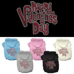 Happy Valentine's Day Rhinestone Hoodies