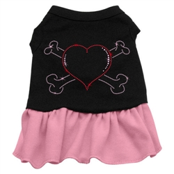 Rhinestone Heart and Crossbones Dress