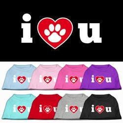 I Heart U Screen Printed Shirts