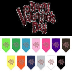 Happy Valentine's Day Rhinestone Bandana