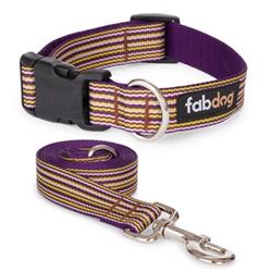 Purple Mini Stripe Collars & Leads