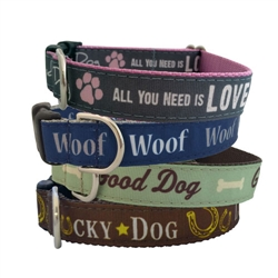 Dog Dialogue Collection Ribbon Dog Collars & Leashes by Poochie-Pets