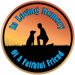 In Loving Memory Of A Faithful Friend - Circle Magnet