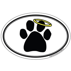 Halo Pawprint - Oval Magnet