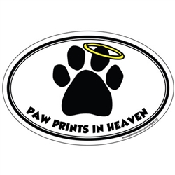 Paw Prints In Heaven - Oval Magnet