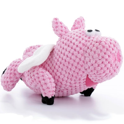 Checkerz Flying Pig with Chew Guard™