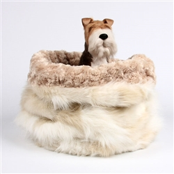 Cream Fox w/ Camel Curly Sue Cuddle Cup