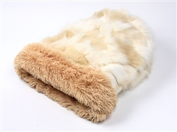 Cream Fox w/ Camel Shag Cuddle Cup