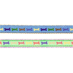 Multi-Colored Dog Bones Adjustable Cat Collar