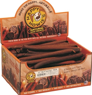 "12"" Jumbo Sausages - Large Bulk Case of 36"