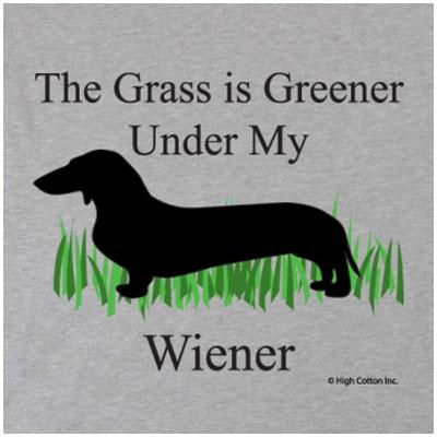 Greener Wiener Gray T-Shirt