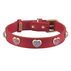Heart Collars & Leashes - Red