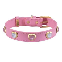 Heart Collars & Leashes - Pink
