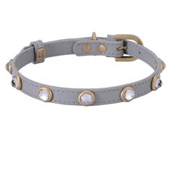 Mini Diamond Collar & Leash - Gray