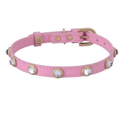 Mini Diamond Collar & Leash - Pink
