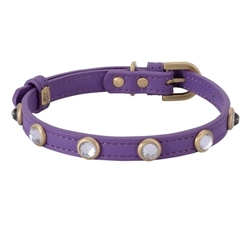 Mini Diamond Collar & Leash - Purple