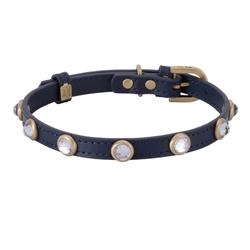 Mini Diamond Collar & Leash - Blue
