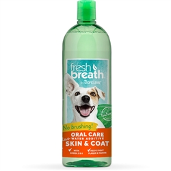 TropiClean Water Additive Plus Skin & Coat - 33 oz. Bottle
