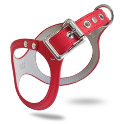 BB2 Dog Harness: Synthetic Leather ~ Red